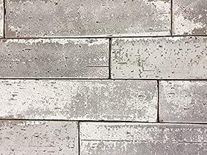 2.5x9.5 London Soft Gray Smoke Glazed Extruded Brick Wall Field Tile (BOX OF 10)