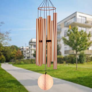 sinfinate Memorial Wind Chimes Outdoor Large Deep Tone, 45 Inch Wind Chimes Amazing Grace with 6 Tuned Metal Tubes, Sympat...