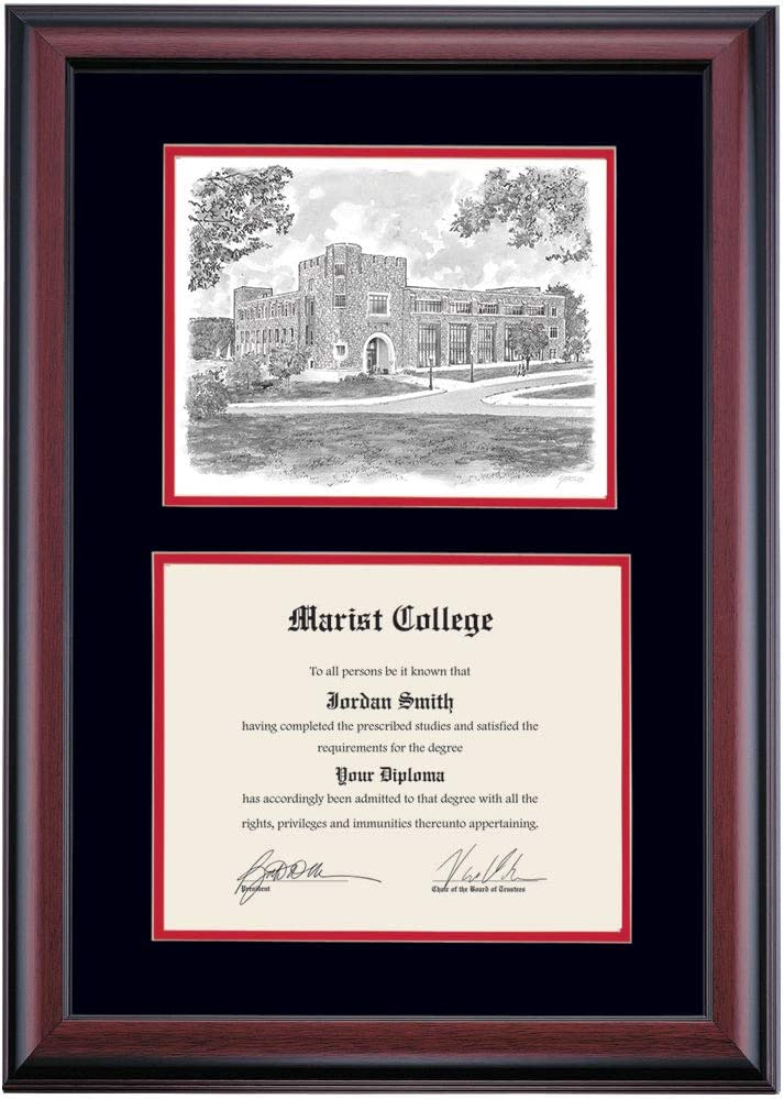 OCM Max 76% New life OFF DiplomaDisplay Premier Frame for Marist Red Foxs College 8
