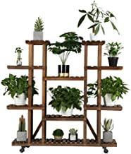 YAHEETECH Plant Stand Shelf Indoor – 6 Tier Tiered Wood Plant Flower Pots Shelves..