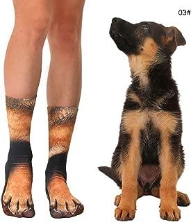 Unisex Animal Paw Socks 3D Print, Pet Dog Foot Print Crew Socks Novelty Cute Humor Breathable Socks for Men Women Kids