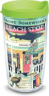 Tervis Margaritaville - Beach Shop Insulated Tumbler with Wrap and Lid, 16 oz - Tritan, Clear