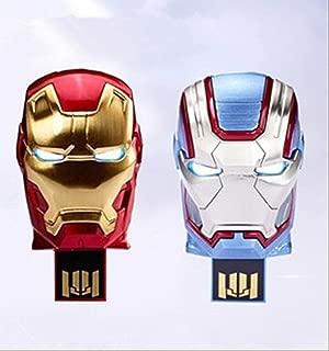 iron man Mark42 PATRIOT usb flash drive アイアンマン マーク42 パトリオット USB2.0 フラッシュメモリ 8GB 2個セット [並行輸入品]