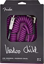 Fender Hendrix Voodoo Child Electric Guitar Coil Cable, Purple