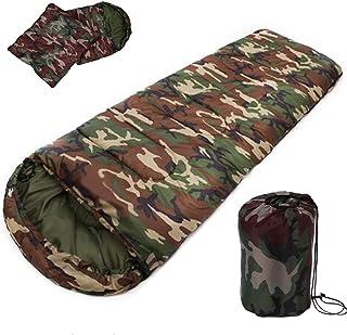 TAFUFALI Cotton Camping Sleeping Bag,15~5Degree, Envelope Style, Camouflage Sleeping Bags