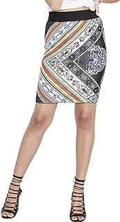Womens Jacquard Printed Pencil Skirt