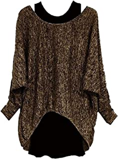 Women Batwing Sleeves Loose Oversized Baggy Tops Sweater Pullover Blouse T-Shirt