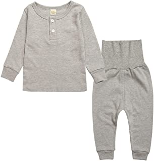 Jixin4you Newborn Baby Kids Home Casual T-Shirt Pant Suit Clothing Set RA24