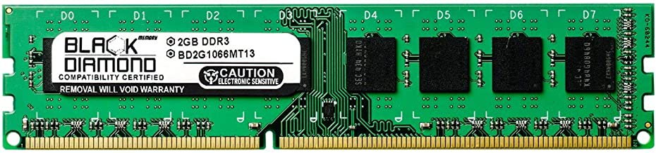 2GB RAM Memory for Foxconn G Motherboard Series G41MXE 240pin PC3-8500 DDR3 DIMM 1066MHz Black Diamond Memory Module Upgrade