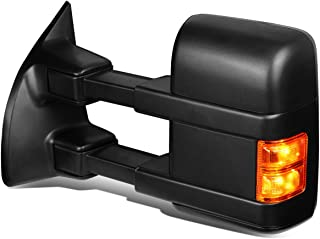 For Ford Super Duty Powered w/Heated+Amber LED Turn Signal Tow Towing Mirror (Left/Driver)