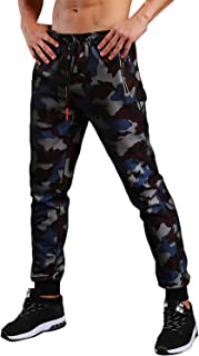 Men's Joggers Pants Casual Slim Fit Trousers Camouflage Elastic Drawstring Sweatpants