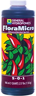 General Hydroponics FloraMicro 5-0-1, Use with FloraBloom & FloraGro For A Tailor-Made Nutrient Mix Ideal for Hydroponics,...