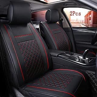 Han sui song Car Seat Cover Wear Resistant Interior Accessories Auto Decoraction Automotive Chair Protector Case 2 Pcs (Black)