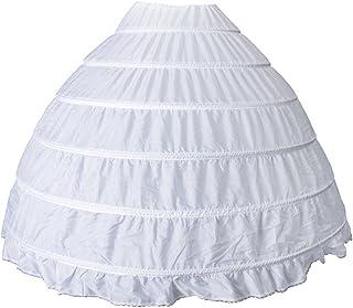 D DOLITY Vintage White Long 6 Hoop Petticoat Wedding Bridal Crinoline Crinoline Skirt