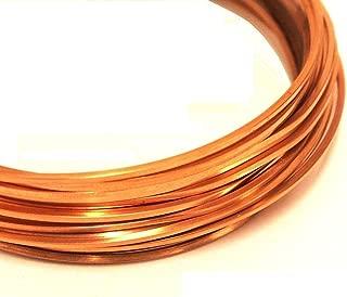 Modern Findings(TM) 18 ga Square Copper Wire 20 Ft (Dead Soft) Coil