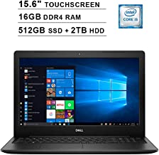 2019 Newest Dell Inspiron 15 3593 15.6 Inch Touchscreen FHD Laptop (10th Gen Inter 4-Core i5-1035G1 up to 3.6GHz, 16GB DDR4 RAM, 512GB SSD (Boot) + 2TB HDD, Intel UHD Graphics 620, Windows 10, Black)