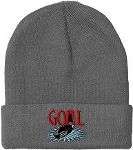 Custom Beanie for Men & Women Goal Hockey Embroidery Acrylic Skull Cap Hat