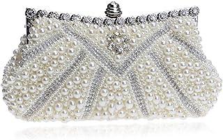 Shoulder Bag Elegant Women's Pearl Dinner Bag Lady's Banquet Bag Dress Handbag Handbag Clutch (Color : Gold)