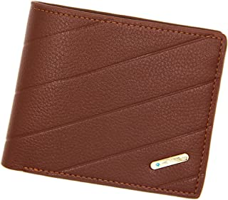 BeniNew men's wallet short minimalist multi-card casing-5 light coffee color