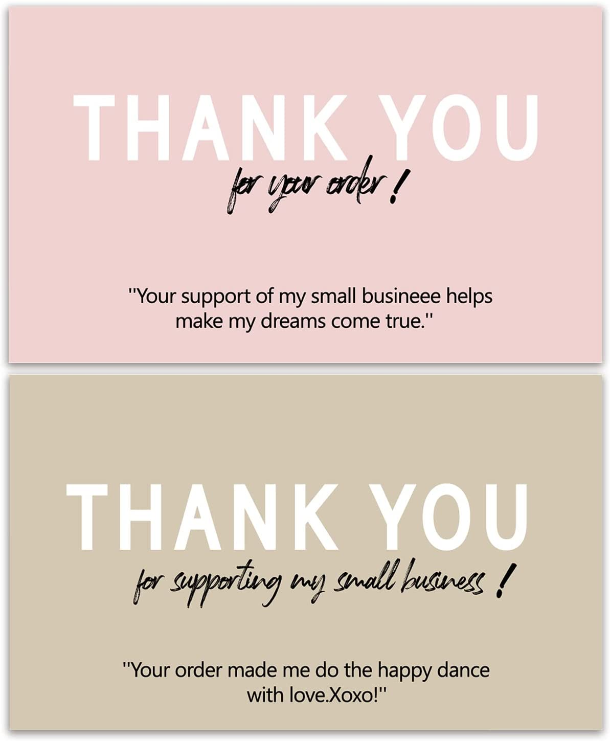 100pcs Thank you for supporting my b 2x3.5 business small Indianapolis Mall cards quality assurance