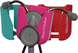 Three Mitten Medical Professional Stethoscope Holders with Scrub-Lock (TM) [One of each color]