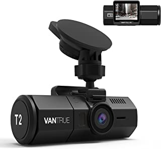 "Vantrue T2 24/7 Surveillance Super Capacitor Dash Cam, Full HD 1920X1080p OBD Dash Camera 2.0"" LCD 160° Wide Angle Dashboard Camera Car Video Recorder with Sony Sensor, Super Night Vision, Wave Guard Parking Monitor, G-Sensor & Loop Recording, Supports up to 256GB Cards"