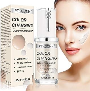 Base de maquillaje líquida, base de maquillaje que cambia de color, base de maquillaje nude – Corrector de cobertura líquida BB crema, base de maquillaje líquida, 40 ml