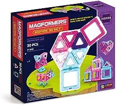 Magformers Inspire Set (30-pieces) Magnetic Building Blocks, Educational Magnetic Tiles Kit , Magnetic Construction STEM T...