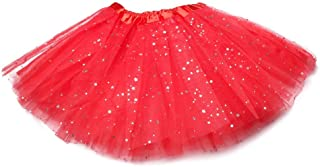 Anleolife 12 Girls Fluffy Tutu Skirt/Princess Ballet Dance Stars Sequins Tutu