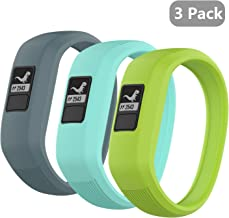 (3 Pack) Seltureone Band Compatible for Garmin Vivofit jr,jr 2,3 Bands, All-in-one Silicon Stretchy Replacement Watch Bands for Kids Boys Girls Small Large (No Tracker)- Cyan,Teal,Lime (Small)