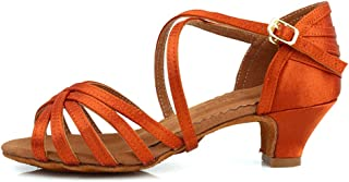 JUODVMP Zapatos de Baile Latino para Niñas de Salon Zapatos de Baile Profesional,Modello-SS-ZS