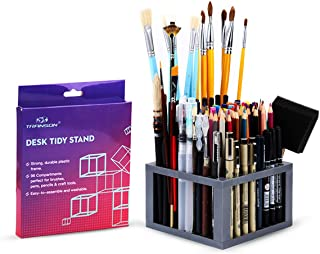 Transon Paint Brush Holder Organizer 96 Slots Desk Caddy for Pens, Pencils, Brushes, Markers