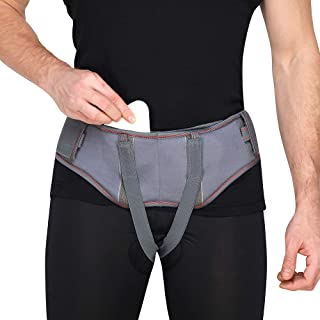 کمربند جدید و راحت هرنیا برای مردان | طراحی پیشرفته خرپا Inguinal | بند بند شکمی با نوارهای قابل تنظیم در خود (بزرگ)