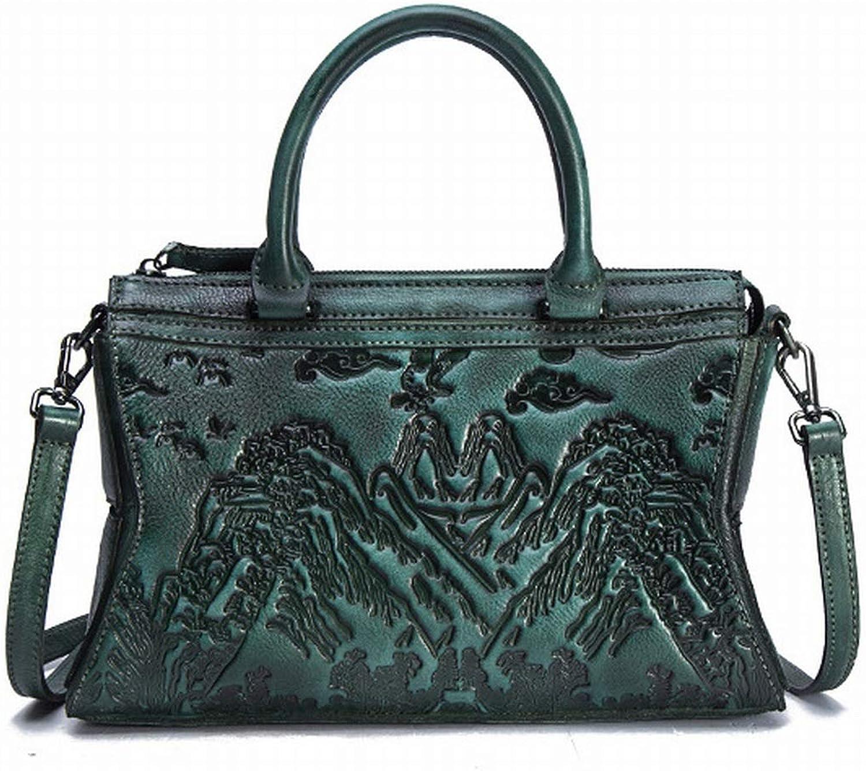 Funytine Frauen Umhängetaschen, Umhängetaschen, Umhängetaschen, Umhängetaschen Handtaschen Manuelle Ledertasche für Frauen (Farbe   Grün) B07P98DTNV a190c8