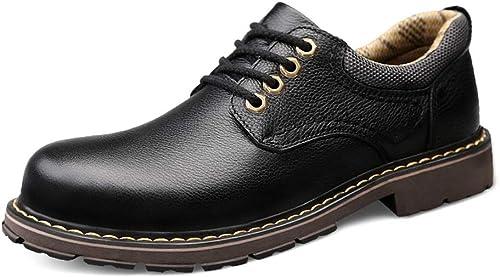 Xujw-chaussures, Chaussures Homme 2019 Décontracté Décontracté Hommes Classique Bout Rond Lacets Outsole Hauteur Chaussures Habillées Oxford (Couleur   Noir, Taille   38 EU)  rentable