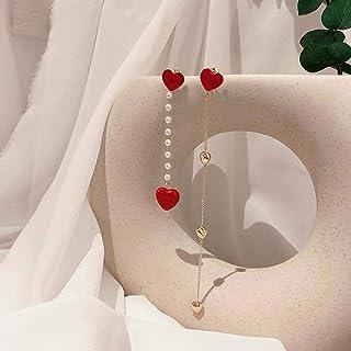 Erin Earring Versione Coreana di Orecchini Pendenti Asimmetrici Amore Carino Gioielli Moda Femminile Elegante Pendente Lun...