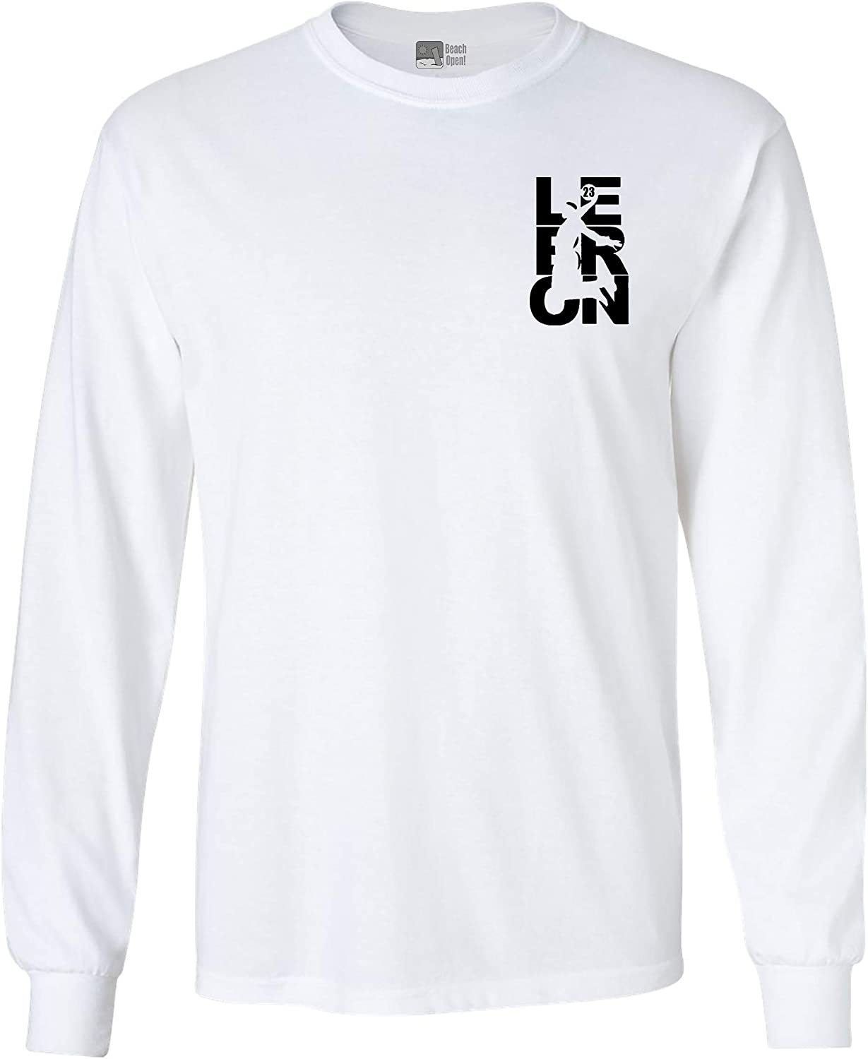 Long Sleeve Adult T-Shirt We OFFer at cheap prices Lebron Fan Ba Cleveland Front and San Jose Mall Wear