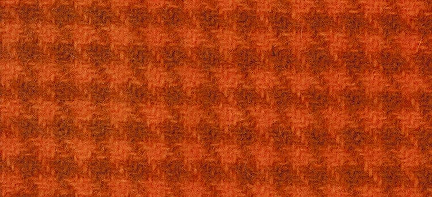 Weeks Dye Works Wool Fat Quarter Houndstooth Fabric, 16  by 26 , Pumpkin