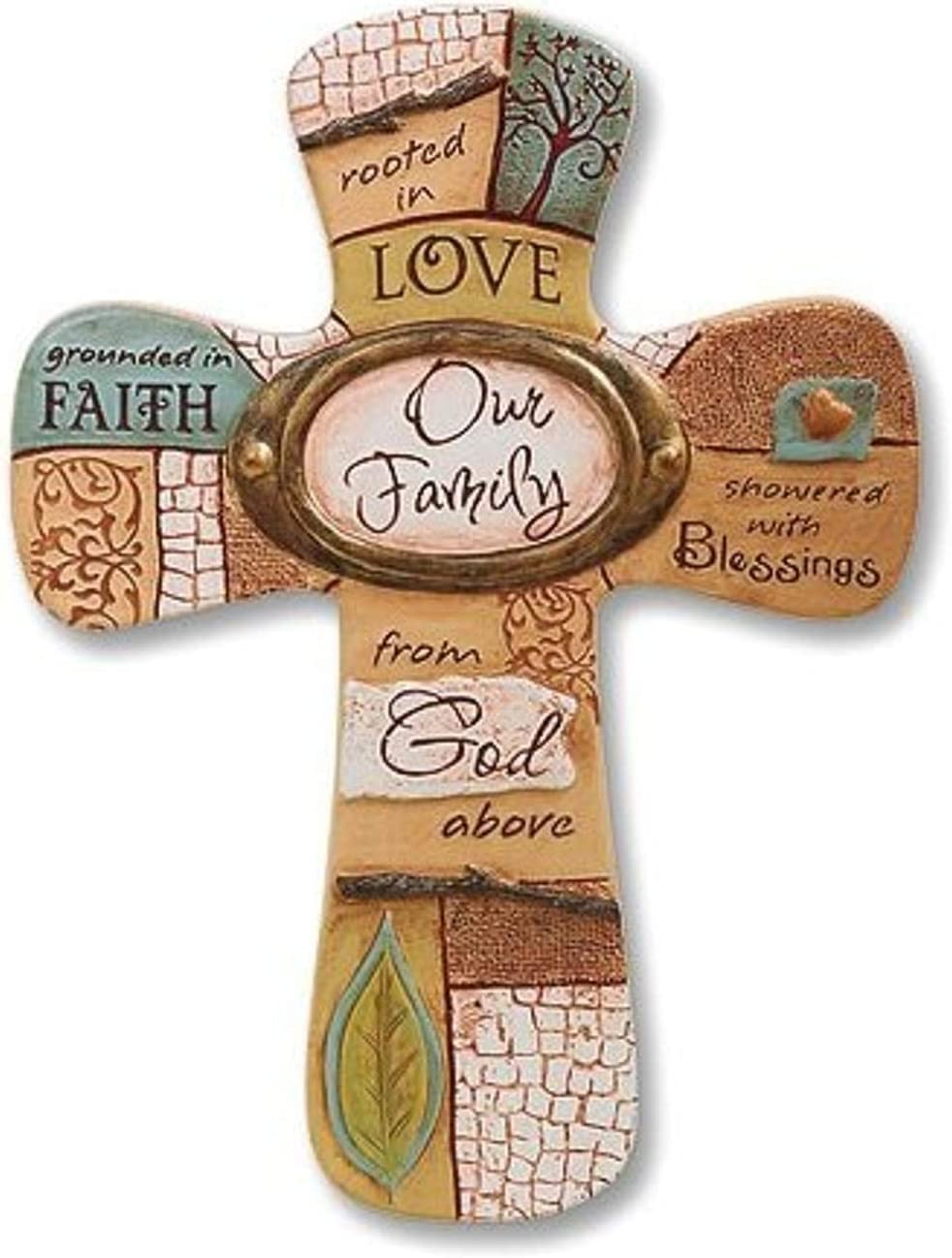 Abbey Gift Cathedral Art Our Family Cross, 6 x 8.13