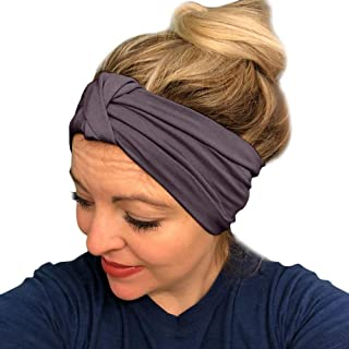 Headbands for Women- Diadia Knitted Sweatband for Sports, Workout or Running, Insulates and Absorbs Sweat, Head Bands for Girls Fitness Fashion Women Turban Twist Knot Headwrap Knotted Elastic Hairband - Mothers Days Gifts for Mum (G)