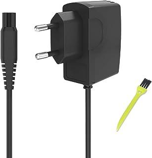 Neue Dawn Cargador de afeitadora eléctrica oneblade philips QP6520 QP6510 HQ8505 MG7770 HC7650 QP2510 RQ1250 AT751,AT752, AT753 AT890,AT890 AT891,Quadra,Sensotec, adaptador de corriente philips shaver