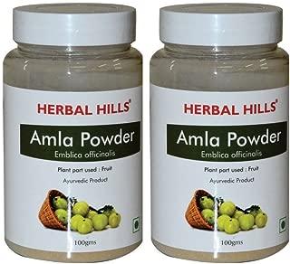Herbal Hills, AMLA POWDER, Indian Gooseberry Ayurvedic Herbs Powder, Pack of 2