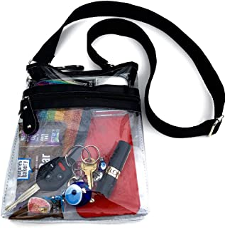 Clear Crossbody Messenger Bag with Adjustable Strap, NFL Stadium Clear Purse