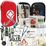 Lizipai Survival Kit/Earthquake Survival Kit/Emergency Kit, 81-in-1 Outdoor Gears Tactical (First Aid & Emergency Accessories for Camping, Hiking, Hunting, Fishing, Survival in Outdoor