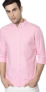 Dennis Lingo Men's Plain Slim Fit Casual Shirt