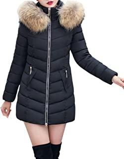 Gillberry Women's Jacket Winter Jacket Long Thick Down Jacket Slim Coat Overcoat