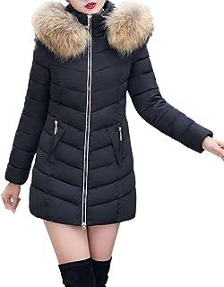 Gillberry Women's Jacket Winter Jacket Long Thick Down Jacket Slim Coat Overcoat
