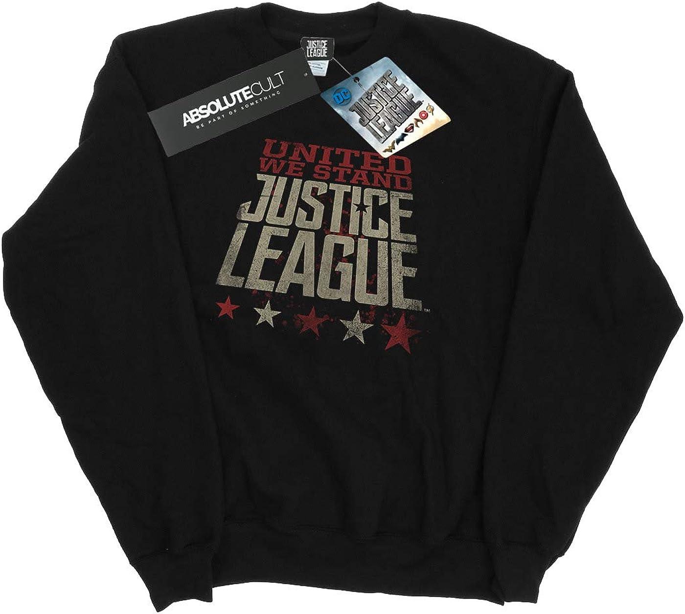 DC Comic Homme Justice League Movie United We Stand Sweat-Shirt Noir
