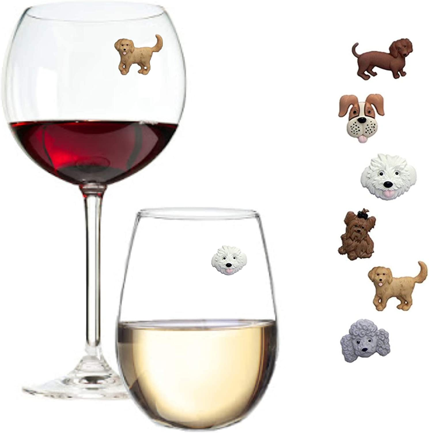 Simply Charmed Magnetic Dog Recommendation Wine Charms Ste Glass for or Detroit Mall Markers