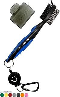 Ace Golf Brush and Club Groove Cleaner, 2 Ft Retractable Zip-line Aluminum Carabiner, Bonus Brush Cover, Lightweight, Stylish, Ergonomic Design, Premium Tour Grade, Easily Attaches to Golf Bag